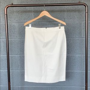J. Crew Ivory BiStretch Cotton No 2 Pencil Skirt
